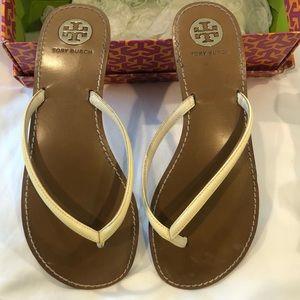 Tory Burch leather sandal  Sz 10 Gr8 condition